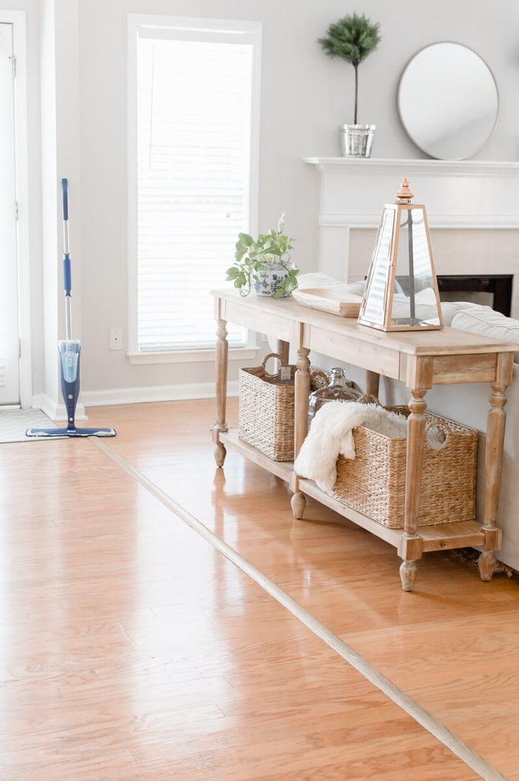 Love hardwood floors, but not cleaning them? Here is a quick and easy way to clean hardwood floors! #sponsored @BonaUS