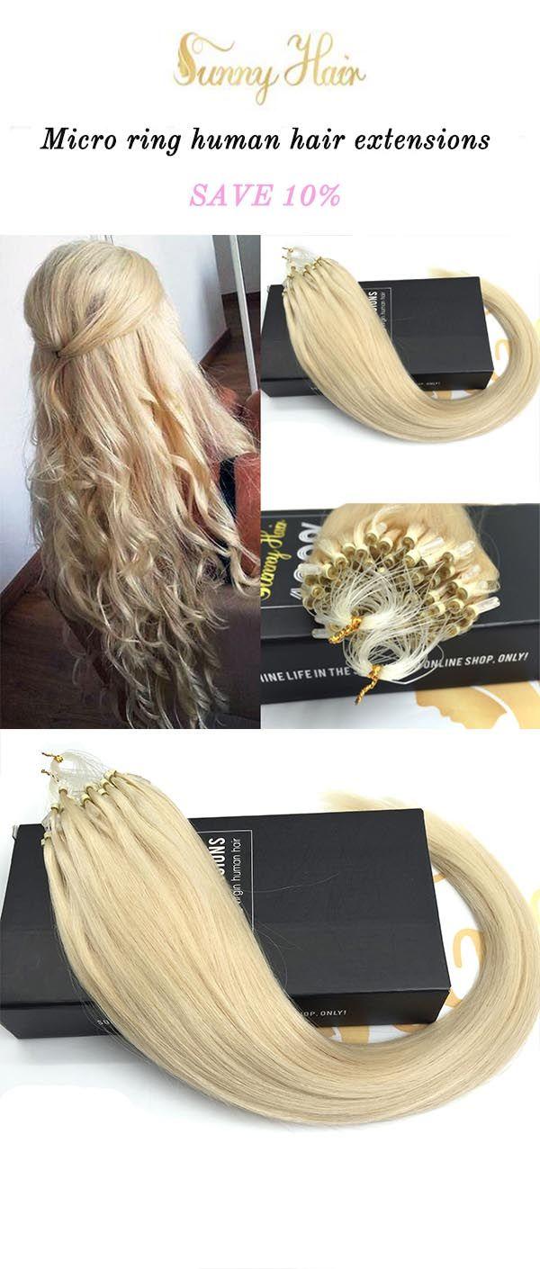 sunny hair human hair extensions,micro ring loop extensions, blonde hair. https://g-sunny.com/collections/micro-ring-hair-extension