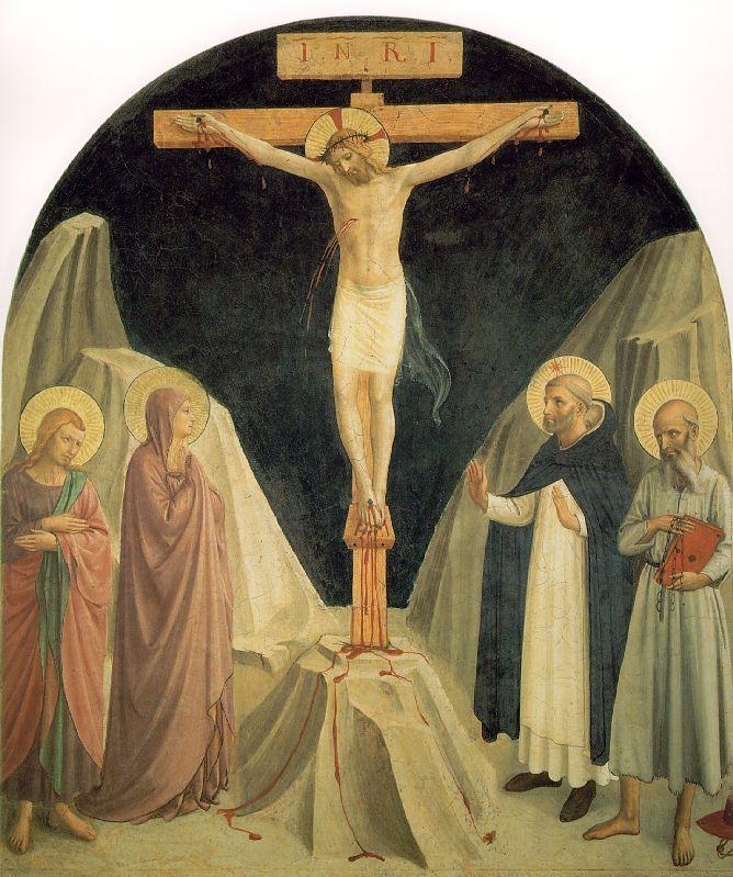 Crucificado Cristo con San Juan Evangelista Fra Angelico - Estilo - renacimiento