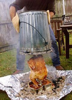 Trash Can Turkey. We've made these several times while camping and they always turn out great!