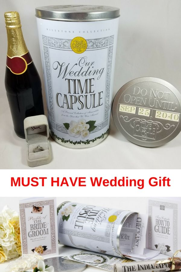 Wedding Gift Ideas For Friends Who Have Everything : MUST HAVE Wedding Time Capsule gift. This is meant to be displayed or ...
