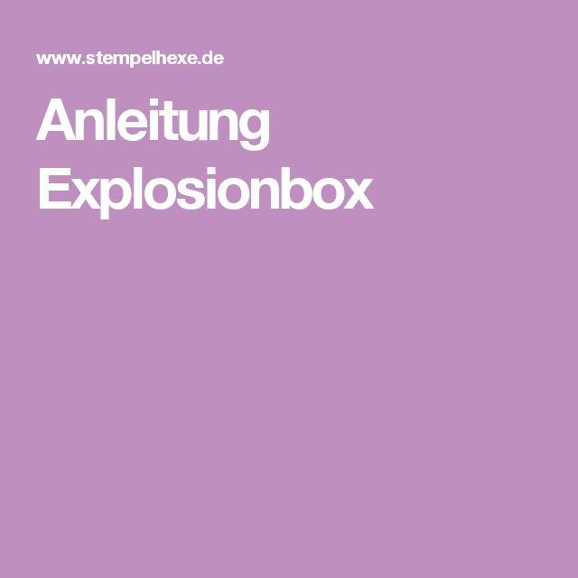 Anleitung Explosionbox