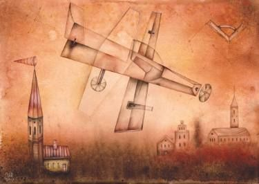 Aeroplane by Eugene Ivanov, watercolor on paper, 29 X 41 cm, SOLD. #eugeneivanov #@eugene_1_ivanov #modern #original #oil #watercolor #painting #sale #art_for_sale #original_art_for_sale #modern_art_for_sale #canvas_art_for_sale #art_for_sale_artworks #art_for_sale_water_colors #art_for_sale_artist #art_for_sale_eugene_ivanov