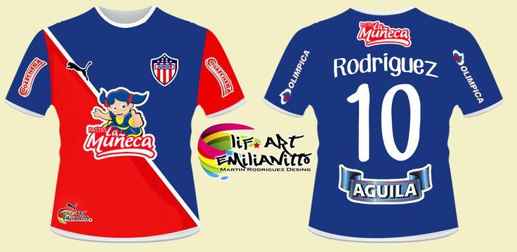 Camiseta Junior De Barranquilla D2 Diseño exclusivo de @LifArtEmilianitto