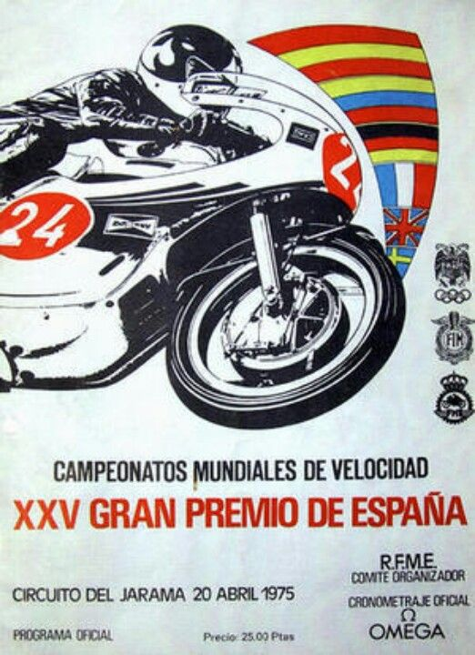 24 Hours of Montjuich Motorcycle Race  poster  1975