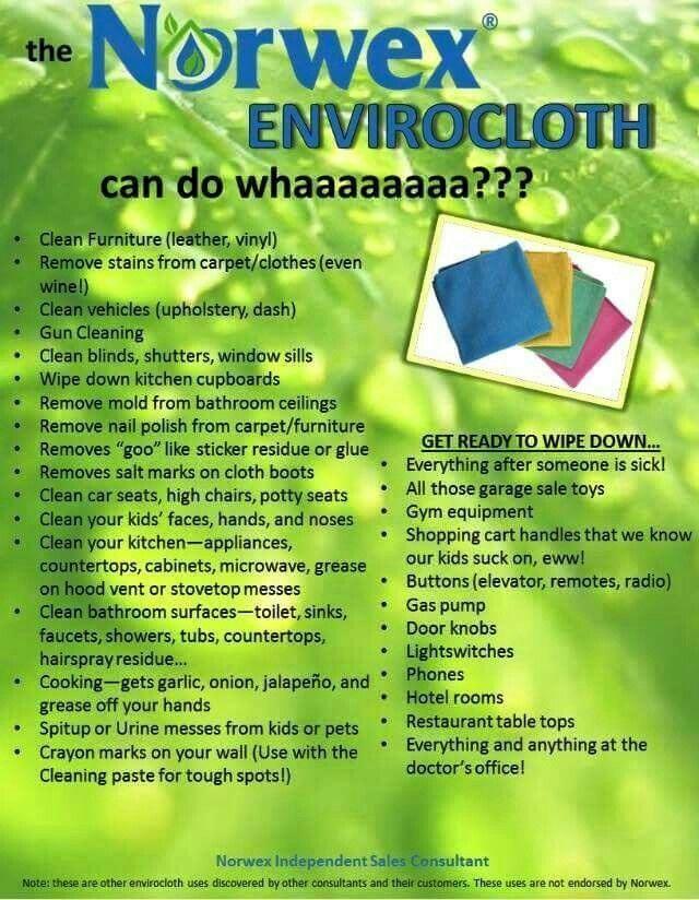 Norwex EnviroCloth is versatile while saving paper towel waste reducing methane gas that causes global warming.