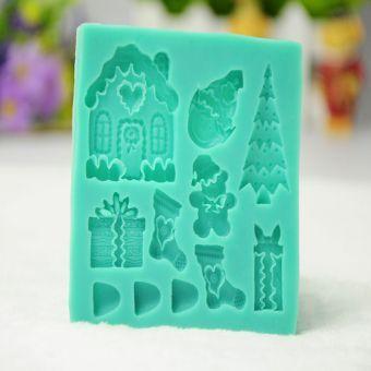 La Navidad formó el molde de la torta de la pasta de azúcar de la magdalena del molde La torta de Bakeware moldea las herramientas