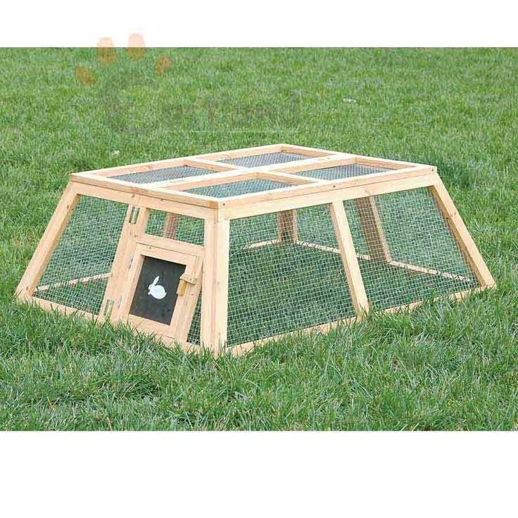 Nice run easy to make rabbit hutch pinterest for Simple rabbit hutch