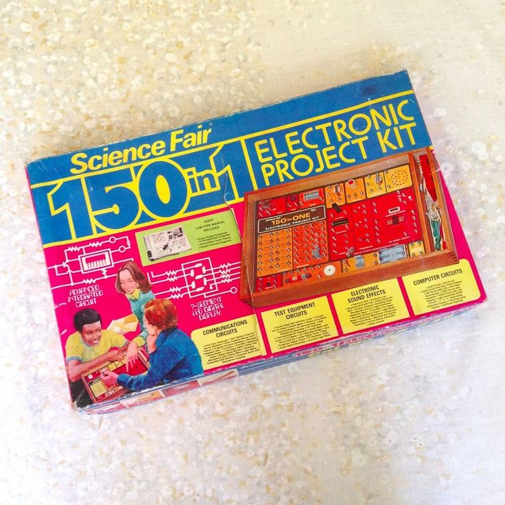 VTG 1970's Science Fair 150 in 1 Electronic Project Kit 28-248 Radio Shack Tandy #Tandy
