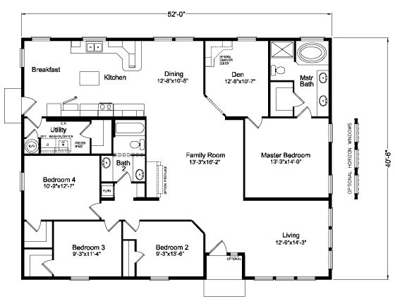 Adams 5V452E9 Home Floor Plan | Manufactured And/or Modular Floor Plans