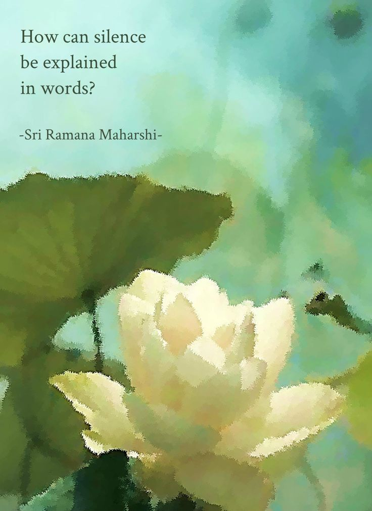 How can silence be explained in words? (Sri Ramana Maharshi)lotus image from pinterest