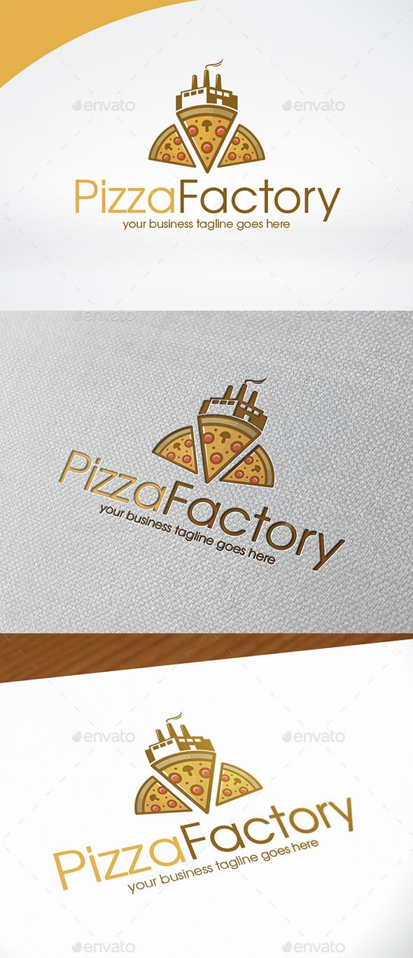 Pizza Factory Logo Template — Photoshop PSD #chef #bistro • Available here → https://graphicriver.net/item/pizza-factory-logo-template/15089808?ref=pxcr