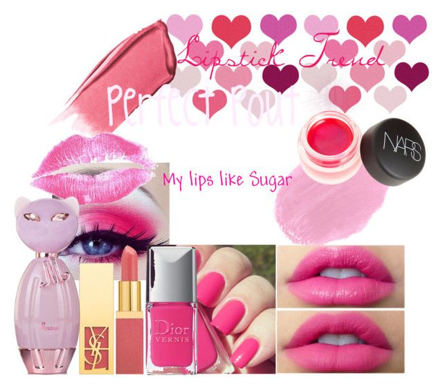 """"""":* <3"""" by mishal-afzal ❤ liked on Polyvore featuring beauty, Yves Saint Laurent, La Vie en Rose, Hourglass Cosmetics, Lancôme, Christian Dior, NARS Cosmetics, contest and lipsticktrend"""