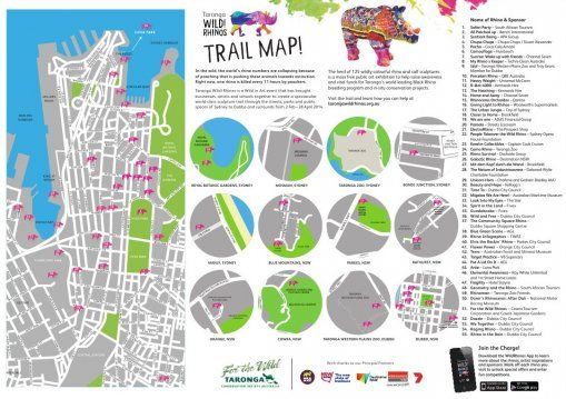 Go see the Rhinos around Sydney and in Country NSW Trail Map | Taronga Conservation Society Australia