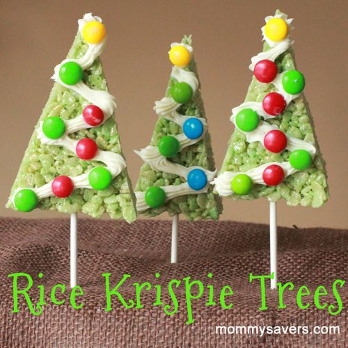 Christmas Rice Krispie Teats! Totally doing this!