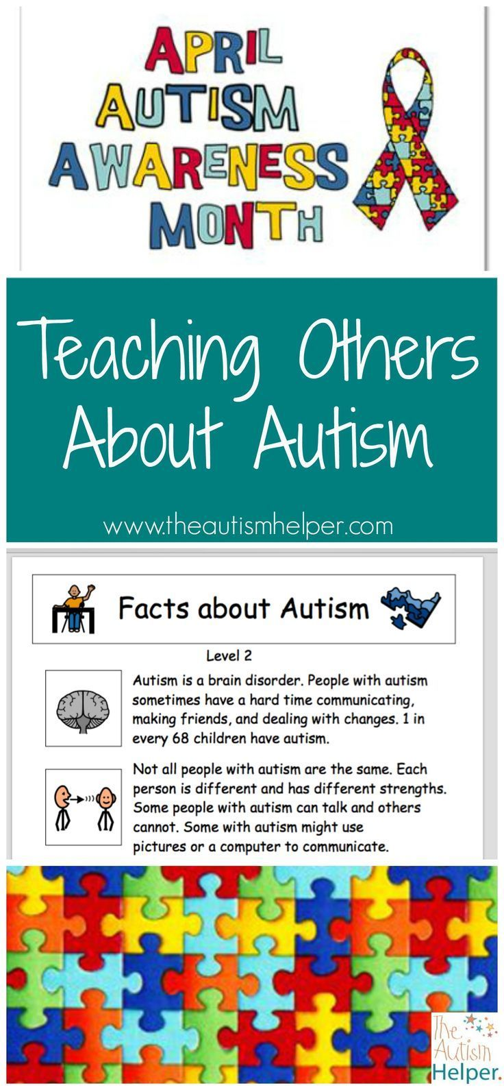 Tips for Teaching Others About Autism for April {Autism Awareness Month} From theautismhelper.com