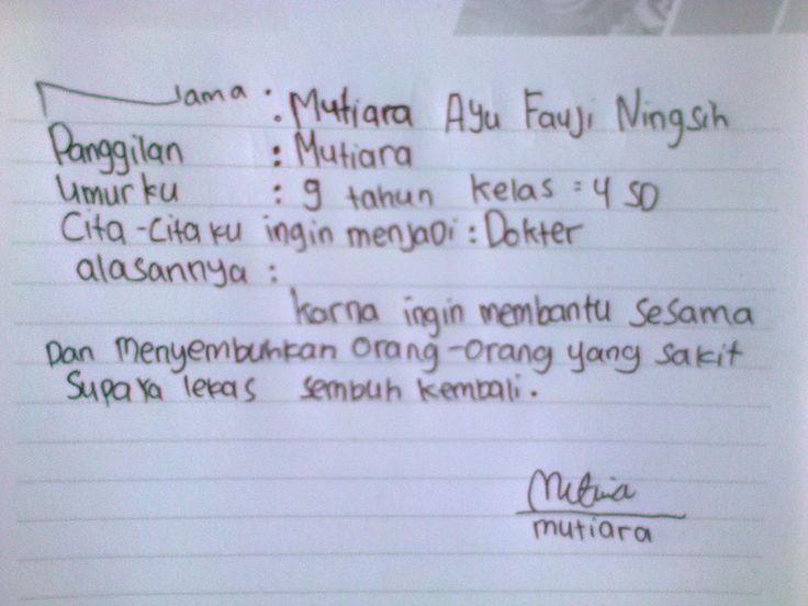 #FutureFactory: Handwriting by Mutiara Ayu Fauji Ningsih
