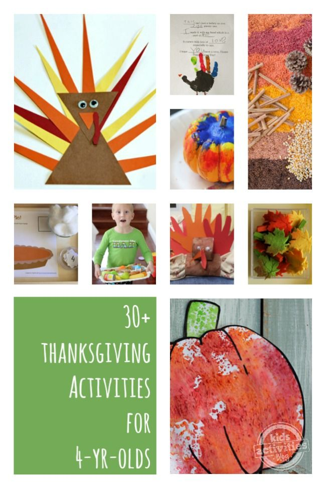 30  Thanksgiving Activities for 4 Year Olds - get kids involved in the Thanksgiving holiday!