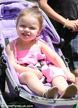 What a Peach! Harper Beckham shopping in LA this weekend!
