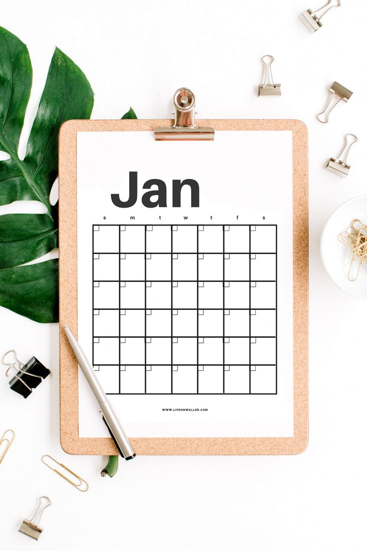 calendar that you can fill in