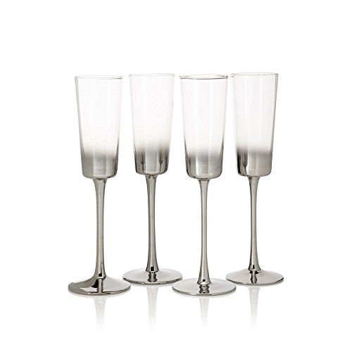 Artland Shadow Champagne Flute Glass  Set of 4 * Check out the image by visiting the link.
