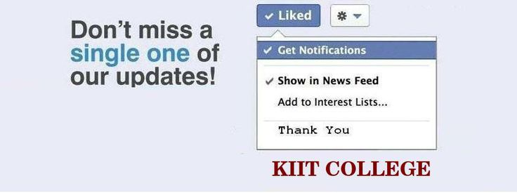#KIIT - Don't miss a Single one of our Updates!!!! www.kiit.in