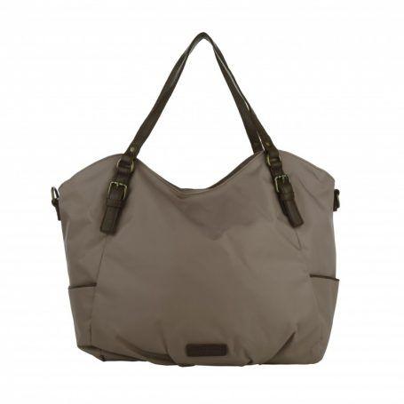 Liebeskind Tasche – Paulette Nylon Cloud Grey – in braun – Umhängetasche für Damen