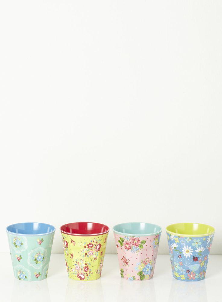 Set of 4 Vintage Cups - Home, Lighting & Furniture - - Home, Lighting & Furniture- BHS