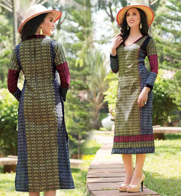 PURE COTTON KURTI PATTERNS TRENDY V-NECK DESIGN YELLOW AND GREY TOP DESIGN FOR MODERN INDIAN LADIES