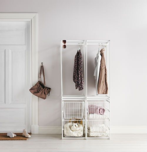 Get extra storage space in your hallway with the customizable ALGOT storage system.