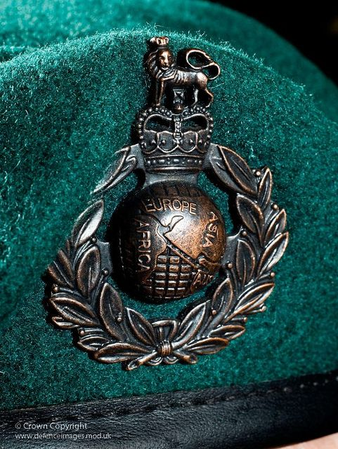 Royal Marines Beret Badge by Defence Images, via Flickr