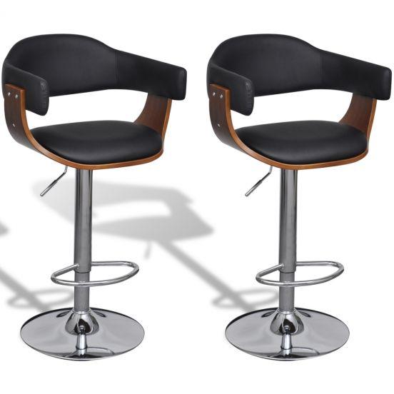 Sada dvou výškově nastavitelných barových židlí Austin