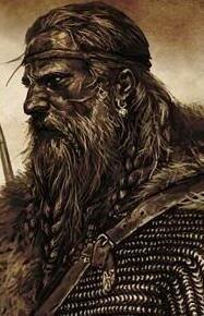 """Jarmund Vinje, Sangue de Hufnir, mais conhecido apenas como """"o Jarl"""". Ahroun dos Crias de Fenris, líder do Caern da Força do Norte."""