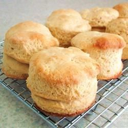 """Easy Biscuits I """"This three-ingredient recipe gets biscuits on your table in a quick and easy manner for when you need biscuits now!"""""""