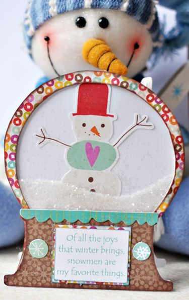 Snowman Card With PoemHoliday, Christmas Cards, Christmas Crafts, Cards Ideas, Guilty Pleasure, Globes Cards, Scrapbook, Snowmen Cards, Snowman Cards