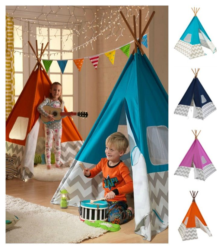 Kids Indoor Chevron Fort Teepee Tent