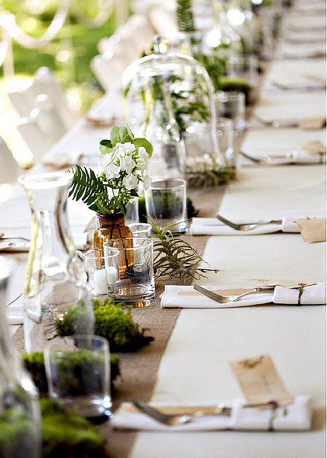 Une table de mariage green