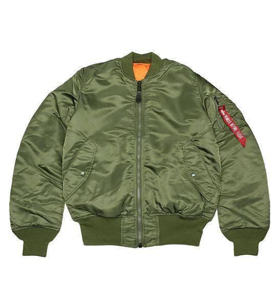 【ALPHA】MA-1 タイトジャケット(ヴィンテージグリーン)【M】