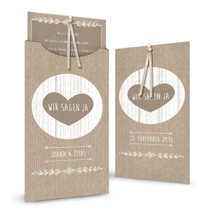 Herzige einsteckkarte joana und elias packpapier hochzeit andere pinterest - Hochzeitseinladung text modern ...