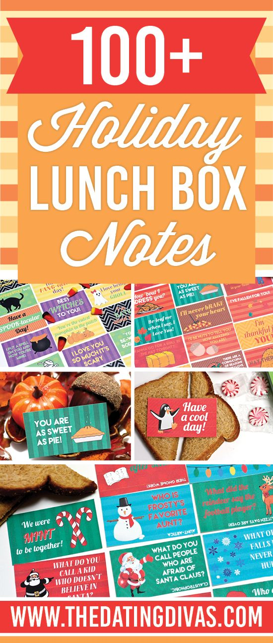 My kids LOVE receiving lunch box notes! And I love how I can sneak these to my spouse as well! www.TheDatingDivas.com