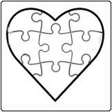 12 Piece Heart shape Jigsaw puzzle.  Lovely favour or wedding invitation!    see our supplier www.onlinegiftshop.co.za featuring on www.weddingangeldirectory.co.za in South Africa