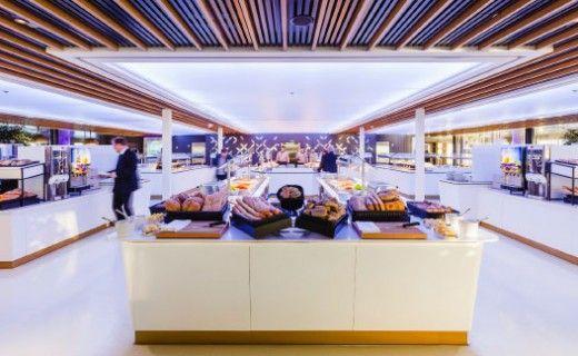 Sisustusarkkitehtitoimisto dSign Vertti Kivi & Co. Buffet Aurora, Viking Grace