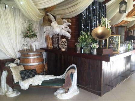 https://flic.kr/s/aHskFm2sor   Private 50th Birthday Party   White and gold ostrich feathers utilised to enhance the cocktail party decor.