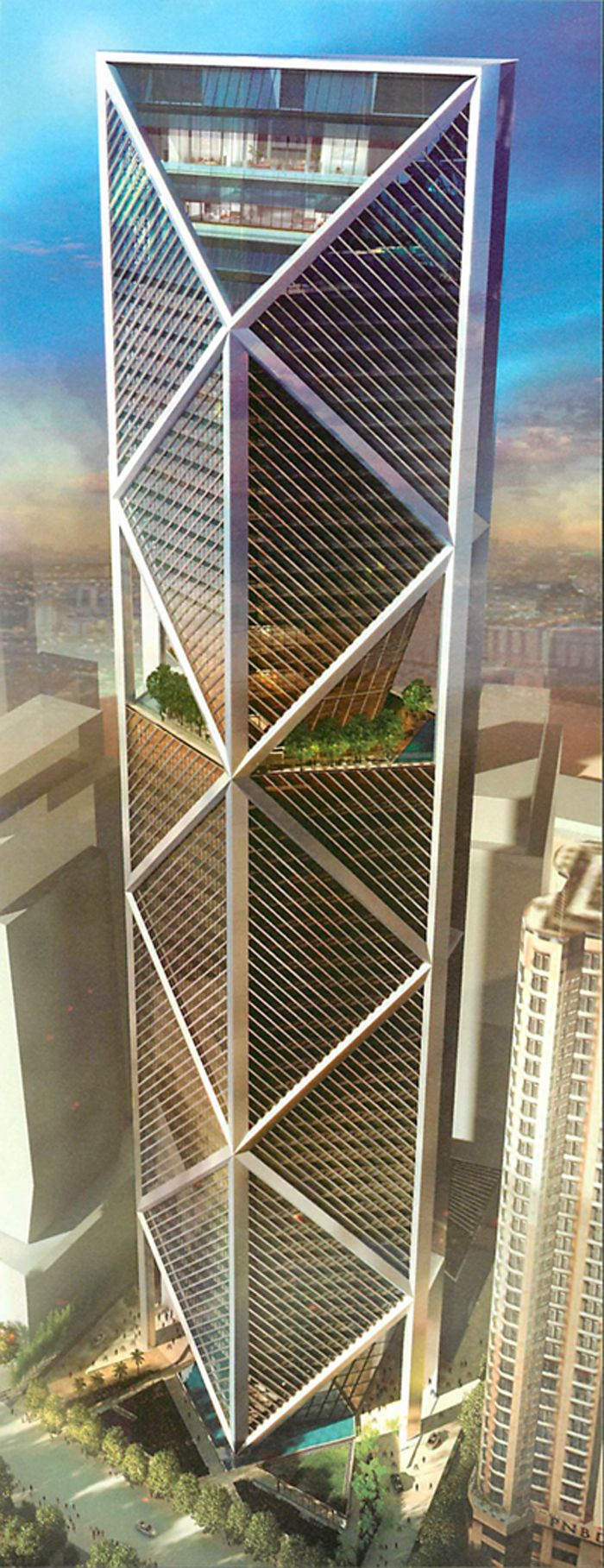 I B TOWER, Kuala Lumpur, Malasya by Foster + Partners Architecture :: 62 floors, height 298m
