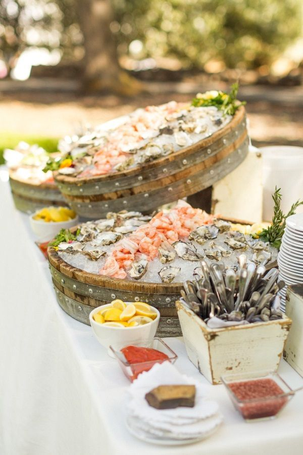 Park Avenue Catering Oyster Bar Great For Cocktail Hour At Any Of Our Milestone Properties Cocktail Hour Food Catering Food Displays Wedding Food Stations