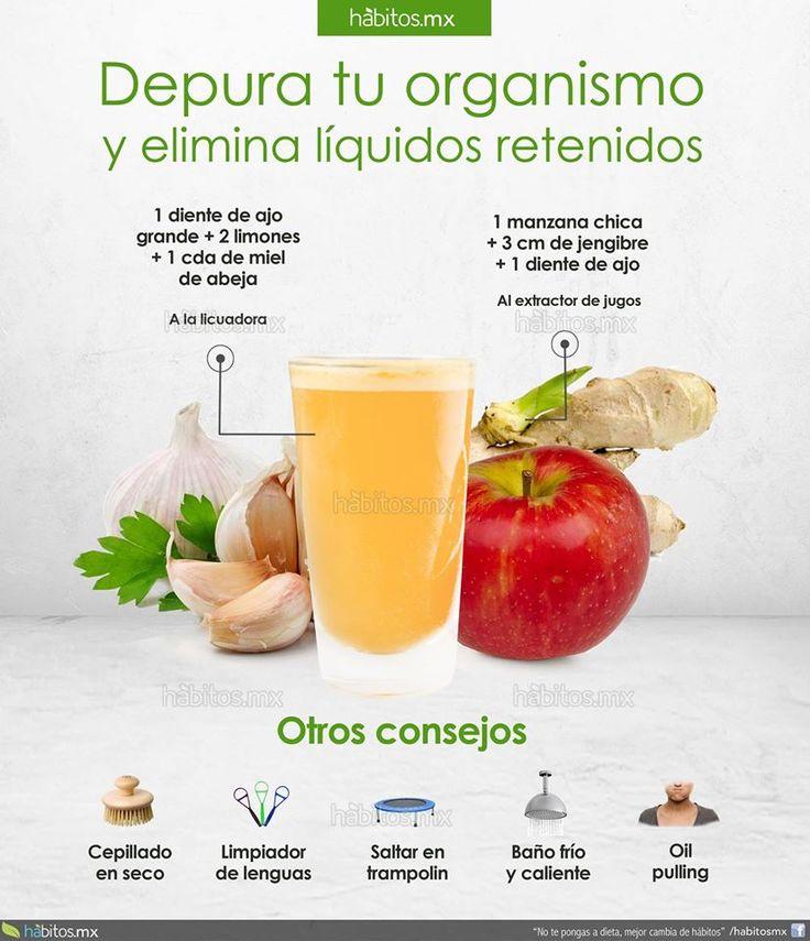 Elimina líquidos de tu cuerpo
