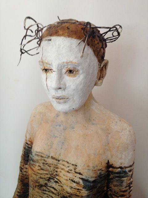 Debra Fritts' sculpture inspired by photo of me taken by Carolyn DeMeritt