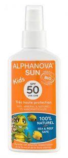 Spray na słońce mineralny z filtrem uv 50 marki Alphanova