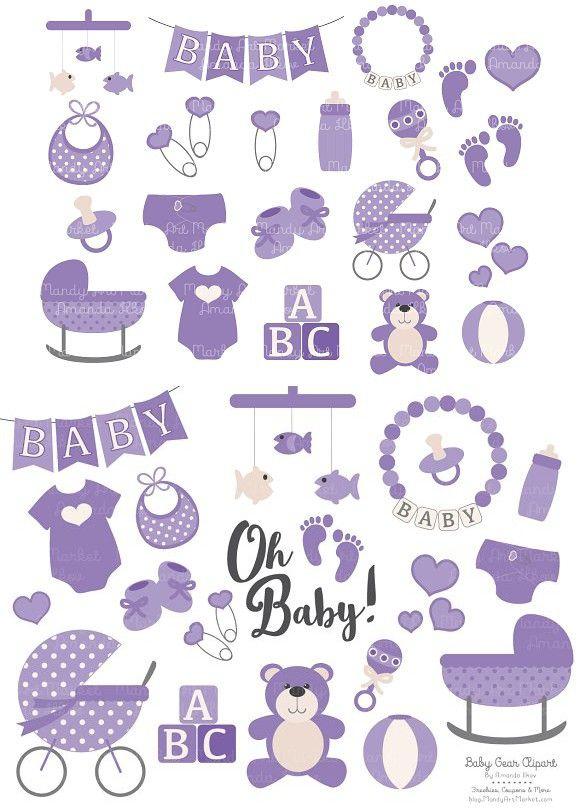 Baby purple. Clipart design illustration