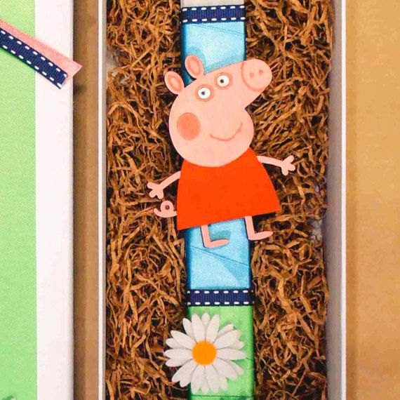 Easter candle Peppa Pig gift for kids Greek Easter by Akatergasto